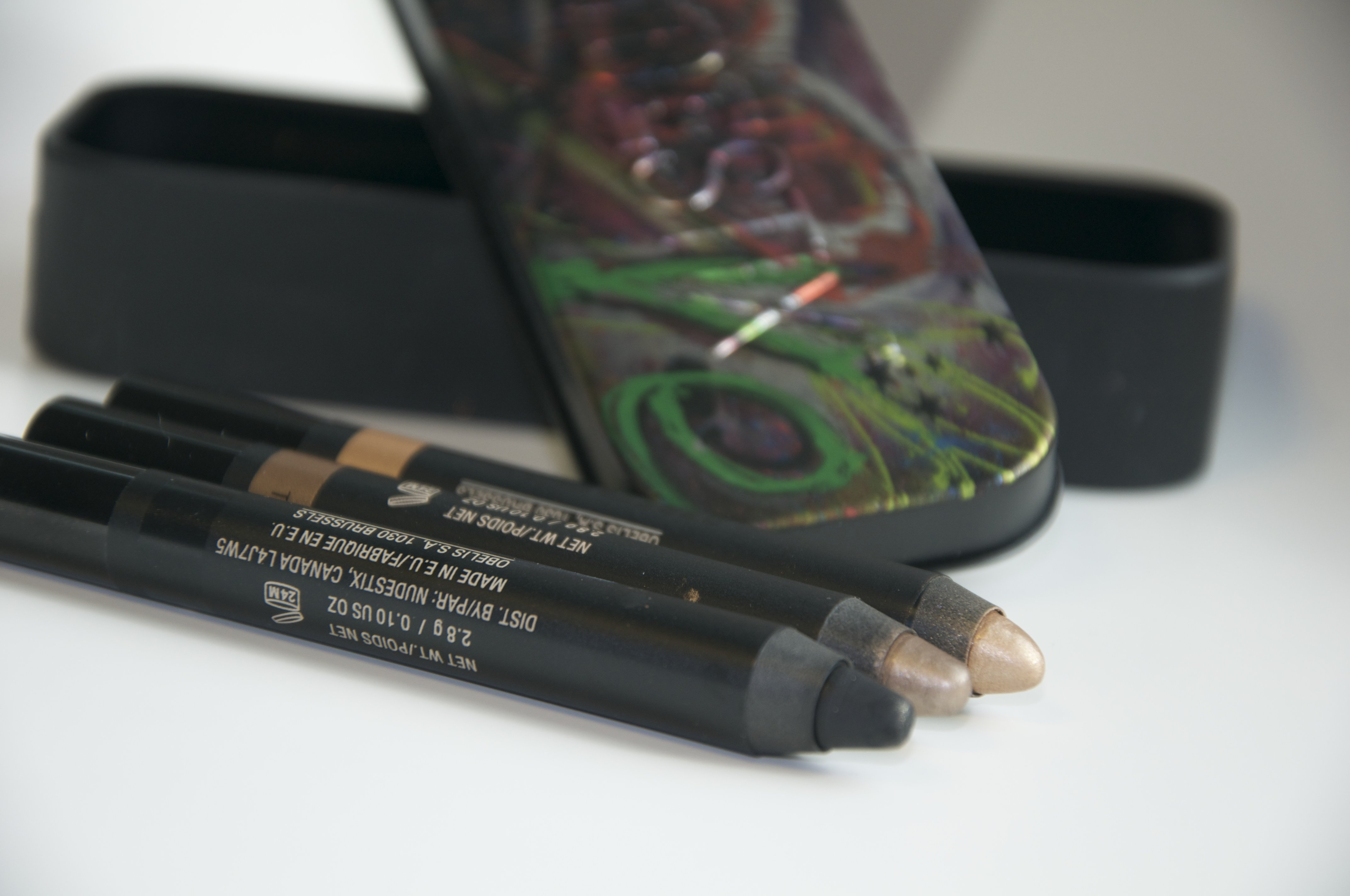 Nudestix (from left to right) Night, Twilight, Gilt