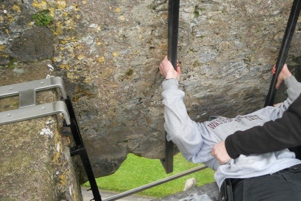 Kissing the Blarney Stone from Blarney Castle website