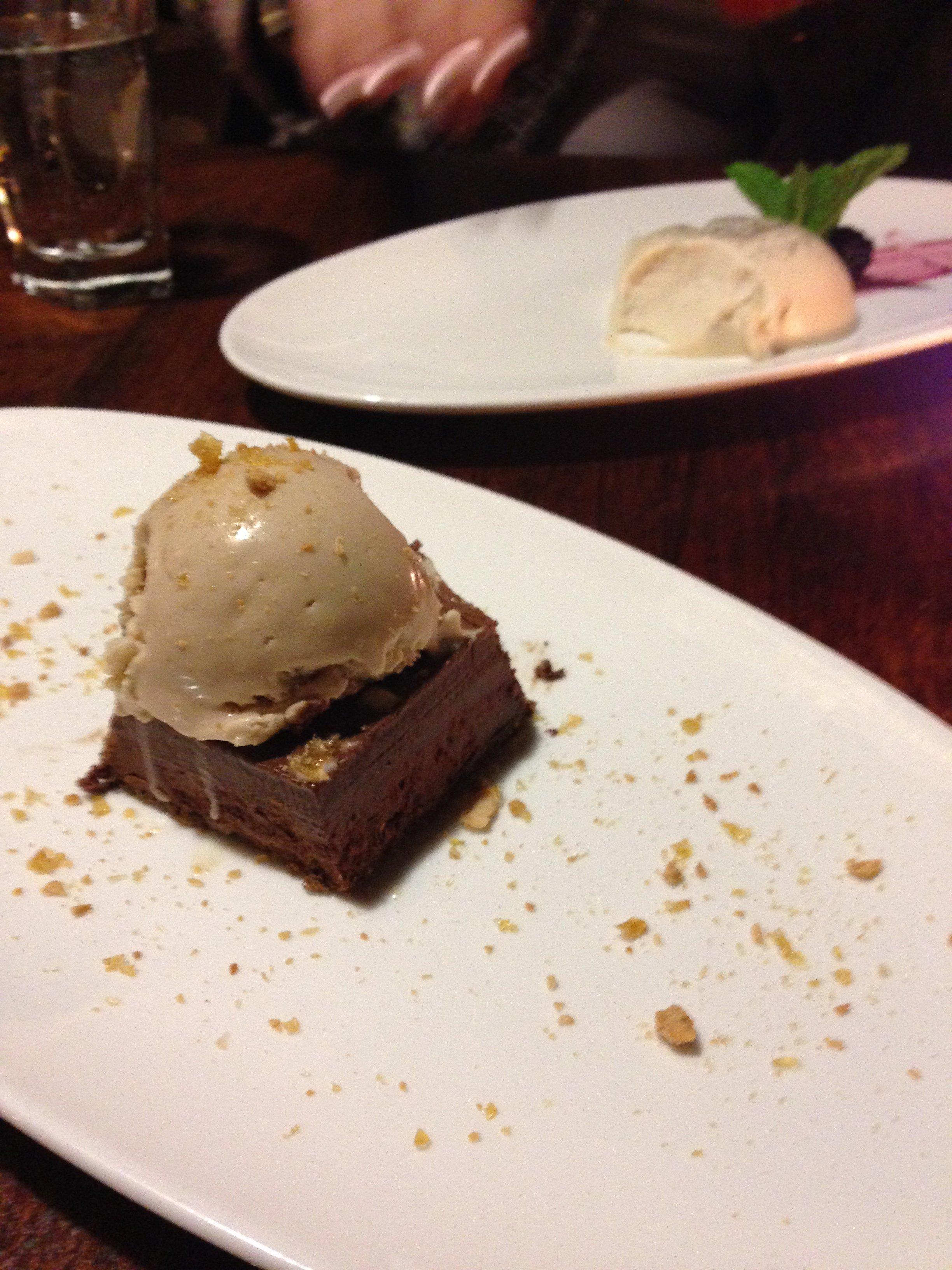 Chocolate & Hazelnut and Vanilla Bean Panna Cotta