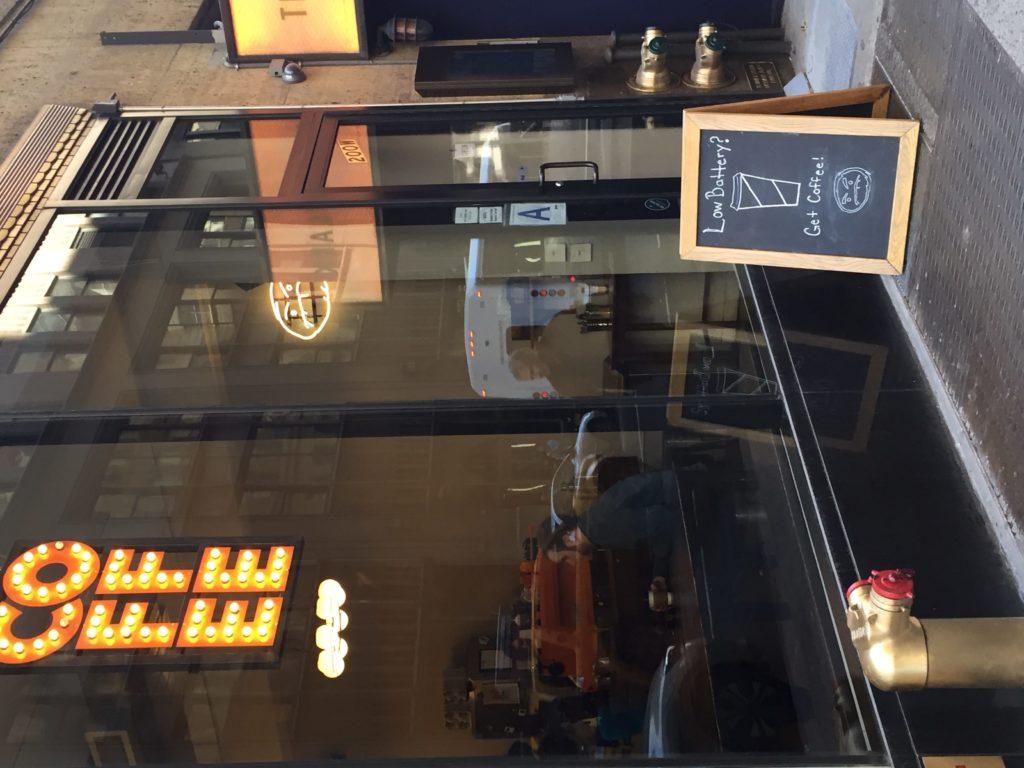 Entrance to Cafe Grumpy