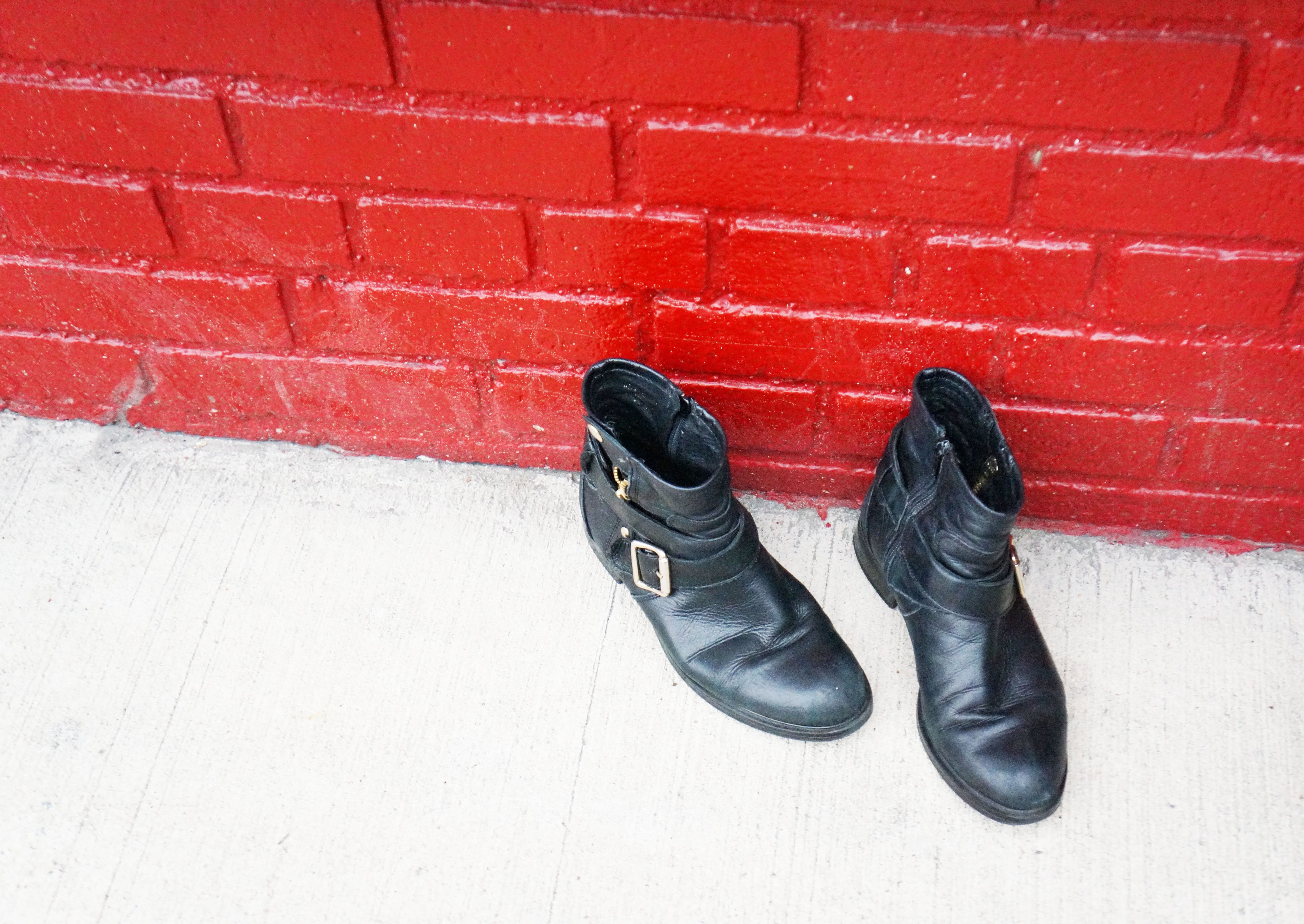 Black Boots Red Brick