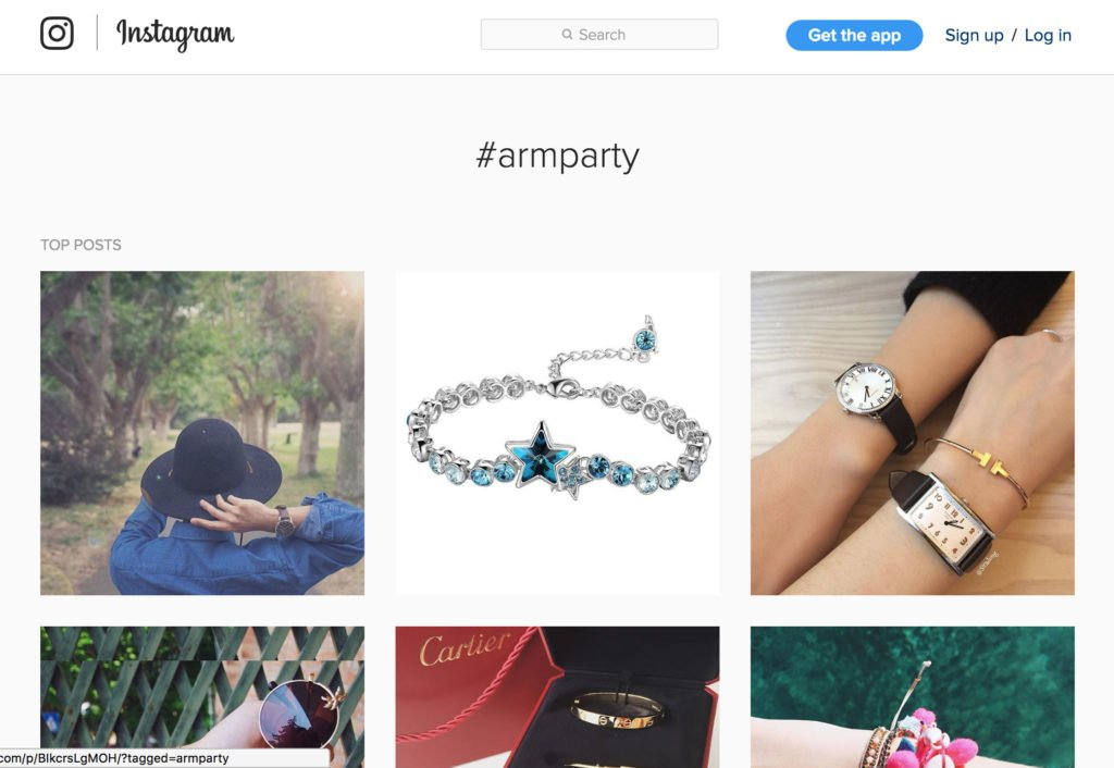 Armparty Hashtag on Insta