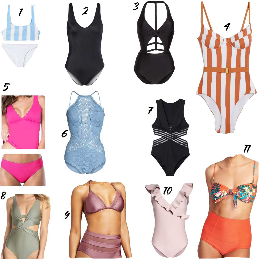 13375f1442c5fc Leith – Plunge Reversible One-Piece Swimsuit | 3. BCA – Cutout One-Piece  Swimsuit | 4. Onia – Danielle One Piece Swimsuit
