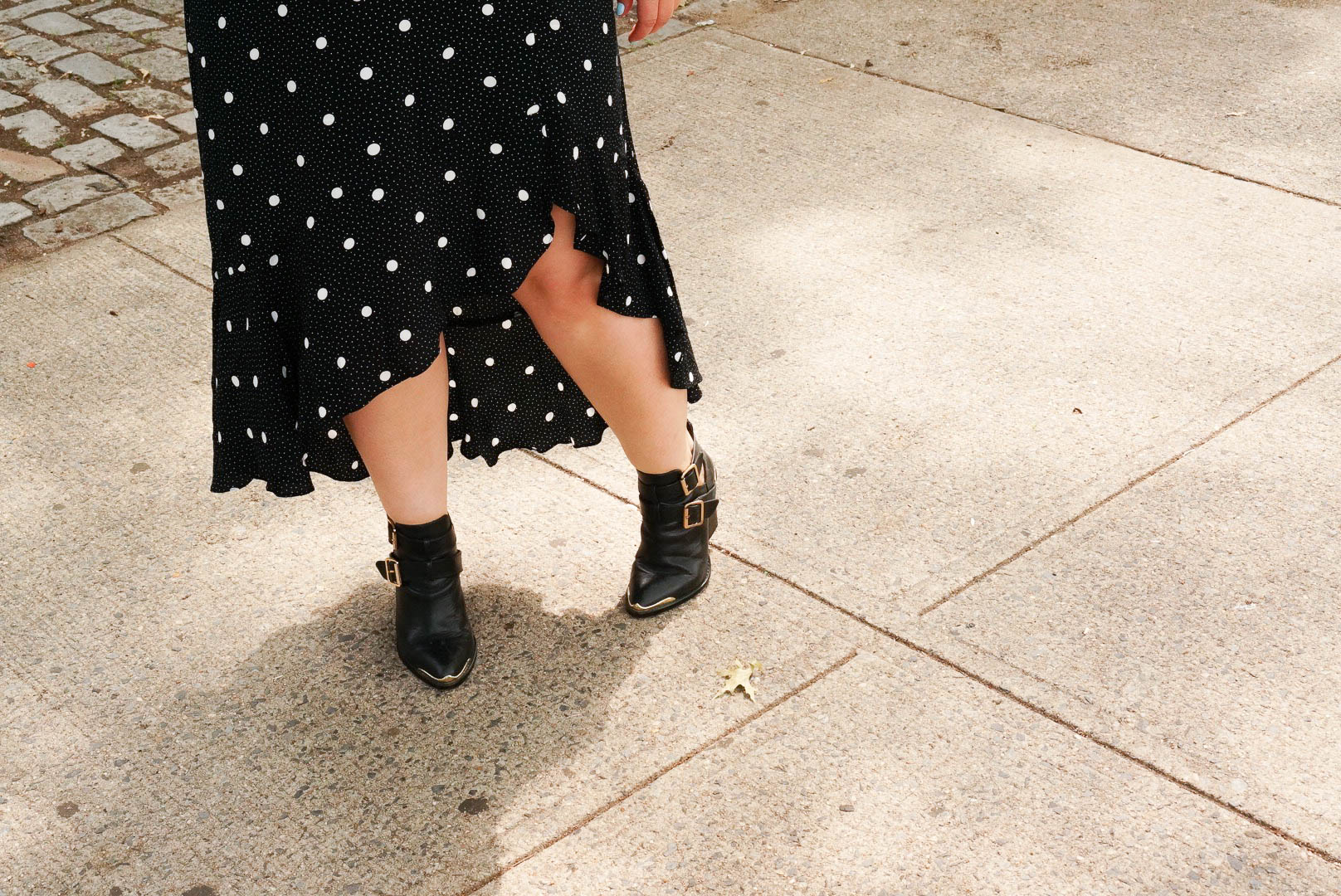 Polka Dot Dress - Shoes