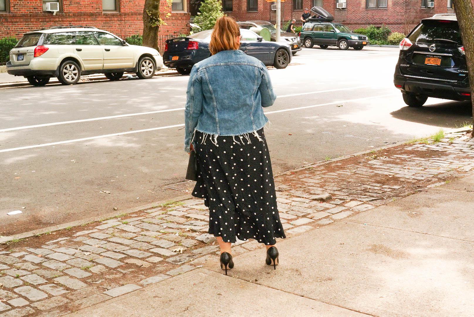 Polka Dot Dress - Back view