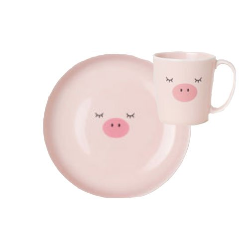 Pig-Plate-and-Cup