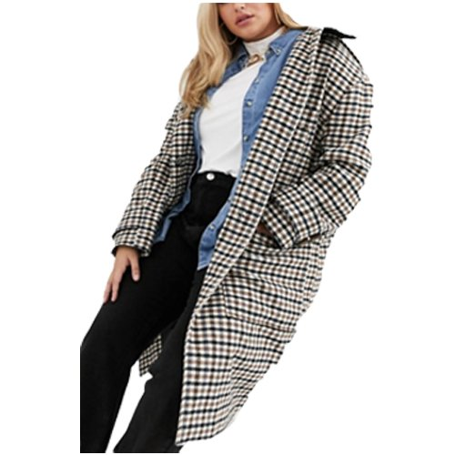 Fall checked coat