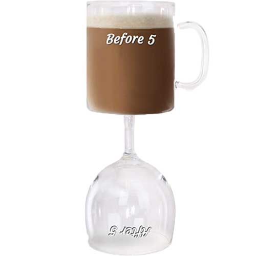 White Elephant Drink Mug Glass