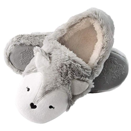 Grey slippers
