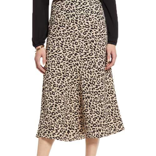 Boss babe animal print skirt