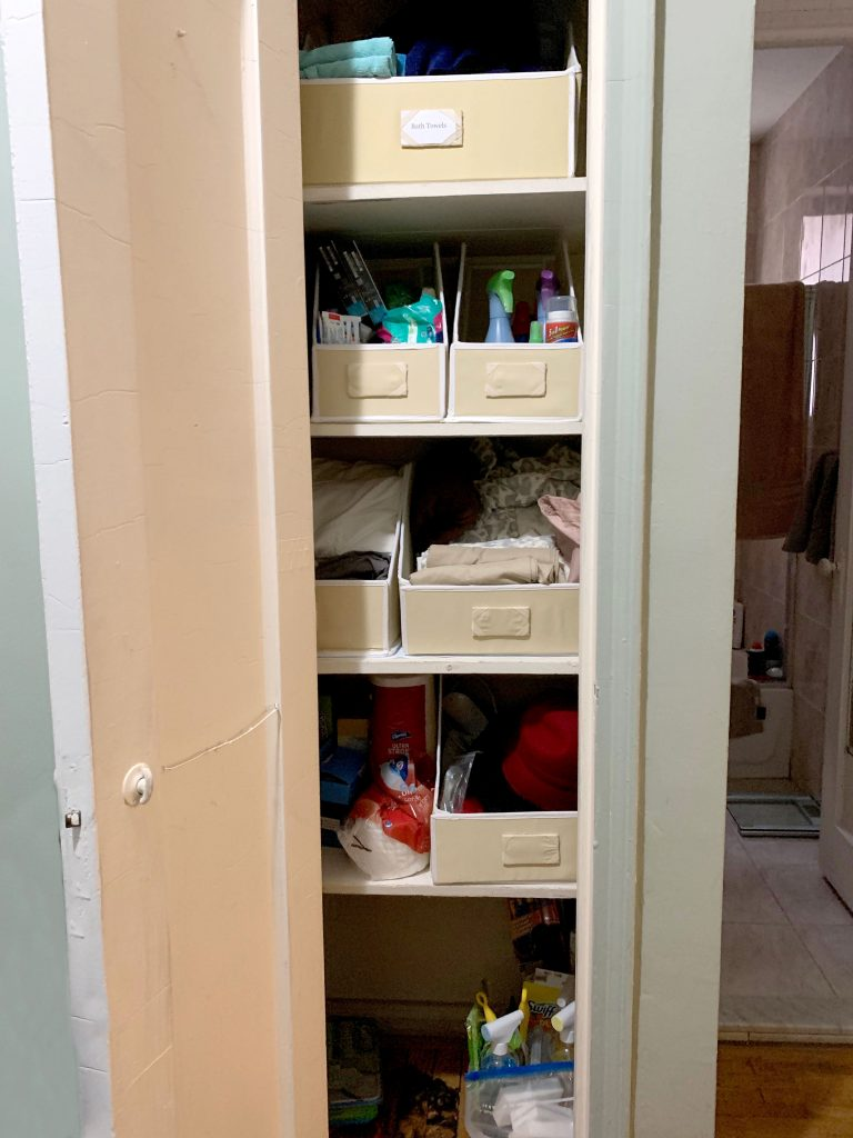Organization - Finished Linen Closet
